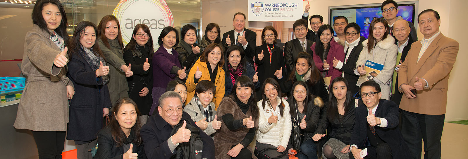 Participants at the Ageas-Warnborough Management Workshop in Hong Kong
