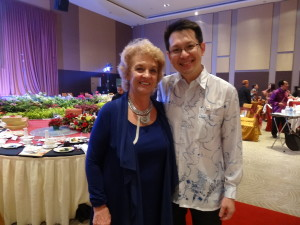 Dr Julian Ng with Carmel Thompson at the Gala DinnerDr Julian Ng with Carmel Thompson at the Gala Dinner