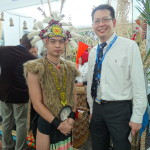 With an Iban warrior
