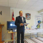 Dr Brenden Tempest-Mogg of Warnborough College welcoming IVETA delegates