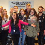Nina with the German interns