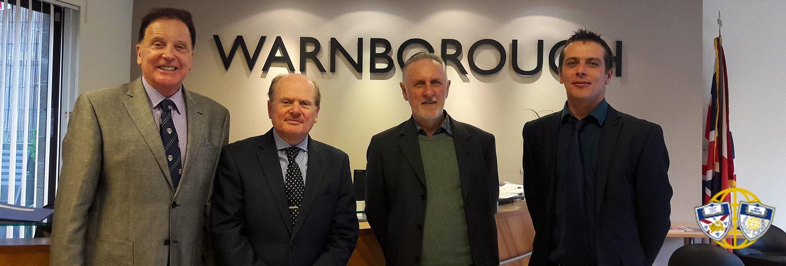 ACS Principal, John Mason, visits Warnborough HQ