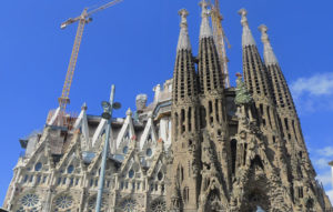 The La Sagrada Familia Basilica watches over beautiful Barcelona