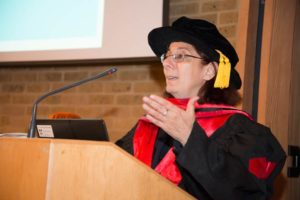 Dr Souha Akiki introduces her Doctoral graduate