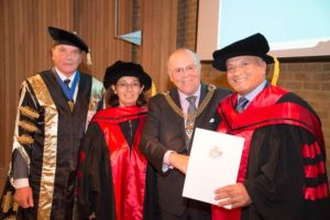 Redwan Aidibi receives his PhD from the Lord Mayor