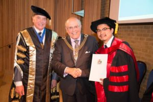 Bob Chan receives his PhD from the Lord Mayor
