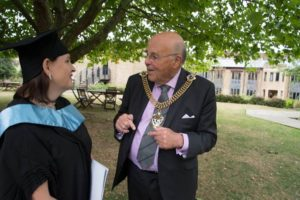 The Lord Mayor with Rita Diener