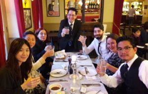 Cheers! Dr Julian with graduates