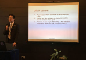 Dr Julian Ng presents a workshop on Objectives-Based Education (OBE)
