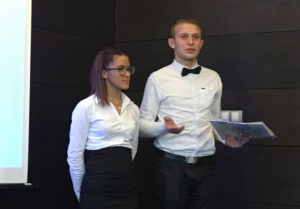 Two students from a nearby hospitality school justify the need for VET