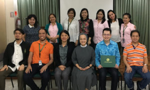 Group photo with English language teachers and key admin staff