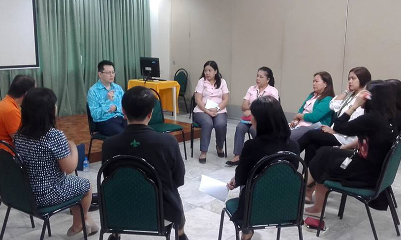 A sharing session with the English language teachers of SPUQC