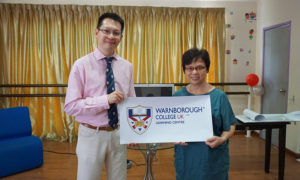 With Ms Woo from Sri Indah International Language Centre