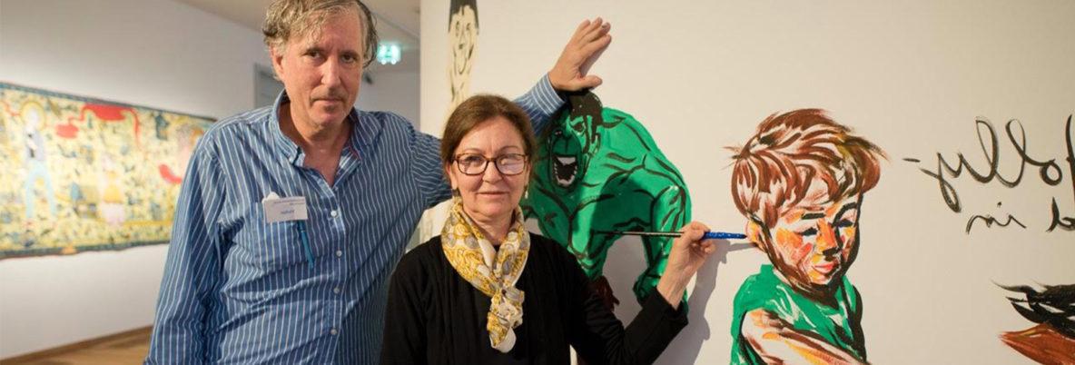 Raymond Pettibon with Dr Matina Chronopoulou