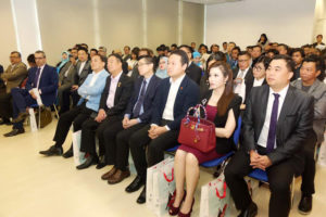 Attendees at the press conference announcing the AMU-WCI partnership