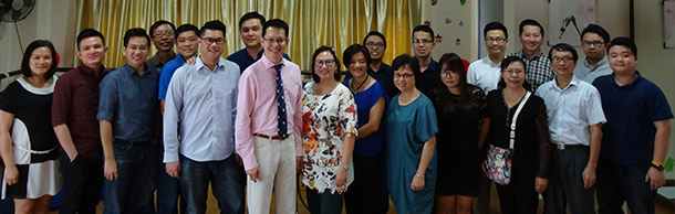 Dr Julian Ng with the heads of our learning centres in Malaysia.