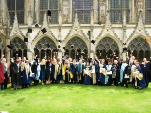 Graduation at Canterbury Cathedral in 2007