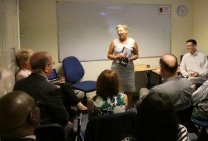 Sally Marshall at the IVETA Europe 2018 Networking Meeting at Warnborough College