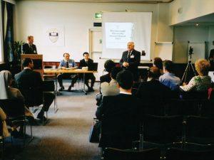 Warnborough University Senate meeting at the Royal Horticultural Halls